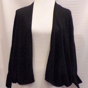 Loft Black Long Sleeve Batwing Open Cardigan